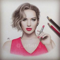 Repost from @_artistiq  Here's my new drawing of Jen!    FOLLOW @zbynekkysela & TAG your artworks #DRKYSELA to be FEATURED!  HOT TIPS CLICK link in my profile   via http://instagram.com/zbynekkysela