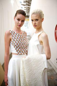 Backstage with ghd at Maticevski at Australian Fashion Week - hair created by Jayne Wild #fashion #hair