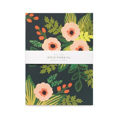 Jardin Journal features a soft linen cover with hand-painted  florals and smyth sewn binding for durability. The interior  pages are printed with metallic gold lines and accents.