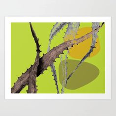 Cactus leaf Abstract Green Art Print by amandadhay Cactus Leaves, Buy Cactus, Green Art, Artwork Prints, Moose Art, Stationery, Printed, Abstract, Store