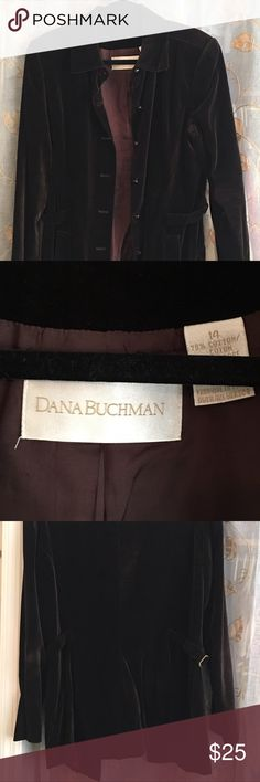 Dana Buchman Velvet Jacket Beautiful brown velvet jacket right on time and trend for fall!  It is in very good condition. Dana Buchman Jackets & Coats Blazers