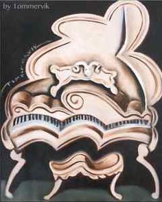 abstract grand piano painting