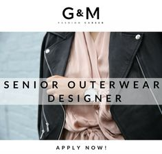 Our client is seeking for a creative, intuitive and accountable person to be the next Senior #Outerwear #Designer for the #womenswear collection. You will guide the #fashion world of an #adventurous and fresh target who is aware of the latest high street trends and is surrounded by a world made of music, social networks and technologies. Apply now by sending your CV & portfolio to info@gm-fashioncareer.com