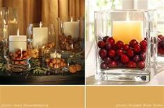 fall and Christmas centerpieces from Martha Stewart