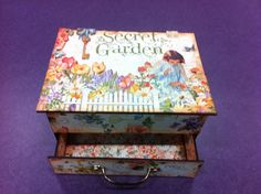 My home made jewelry box. Made out of chipboard and graphic 45 secret garden