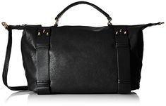 MG Collection Bowler Tote Bag Black One Size ** Click image for more details.