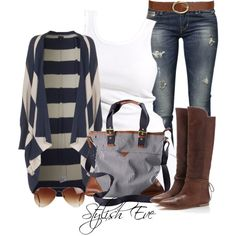 """Stripes"" created on Polyvore"