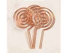 42 best place card holders images on pinterest set of 25 6 rose gold copper wire swirl place card holder stem photo holder or table number holder greentooth Image collections