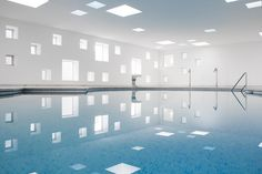 A2arquitectos: indoor pool for a hotel in majorca.