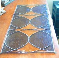 Retro Style Stained Glass Sidelights or Transome by BeadedGlass