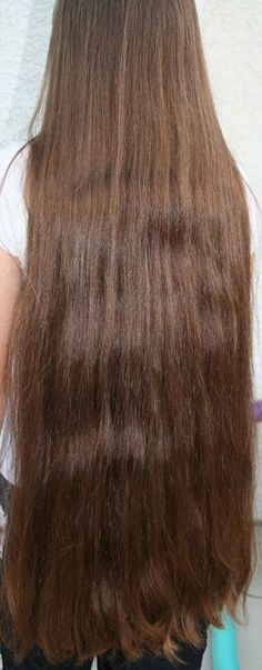 Dark brown, classic-length hair