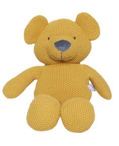 Prenatal Knuffel Buddy Gebreid geel0