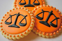 Scales of Justice iced cookies