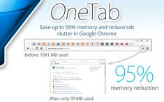 OneTab condenses all of the open tabs to a list on the first page. This makes navigating multiple tabs simpler and faster. -Courage Kenny Rehabilitation Institute