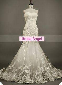 Wedding Dress Lace Embroidery Mermaid Bling Bling Sweetheart Luxury  Princess  efc2eda7f6c0