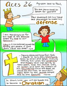Doodle Through The Bible: Acts 26 Free Coloring Page and PNG elements available at the website :)