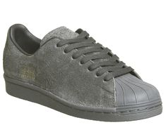 super popular 32128 3ea9b Adidas Superstar 80 s Clean Utility Black - Hers trainers