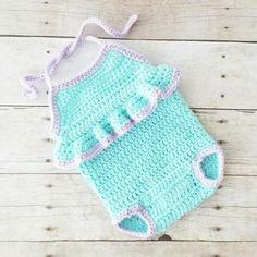 31 Ideas Crochet Baby Dress Summer Bathing Suits For 2019 Crochet Romper, Crochet Bebe, Baby Girl Crochet, Newborn Crochet, Crochet For Kids, Baby Summer Dresses, Summer Baby, Baby Dress, Spring Summer