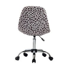 Ebern Designs Sardina Cheetah Task Chair | Wayfair Adjustable Office Chair, Swivel Office Chair, Desk And Chair Set, Desk Chair, Office Furniture Design, Chair Height, Thing 1, Furniture Upholstery, Cheetah