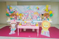 decoração circo rosa por perbambini