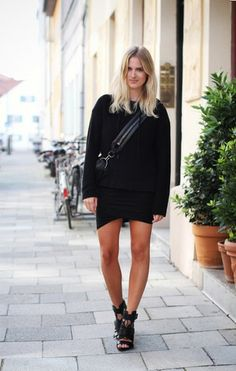T Twist Ruched Jersey Black skirt $39.99 http://www.helloparry.com/collections/bottom/products/t-twist-ruched-jersey-black-skirt