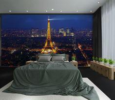 Wallpaper – Paris tower Non-woven wallpaper Home Wall Decor – a unique product by customwallpaper on DaWanda