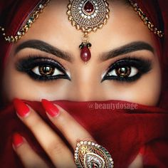 "Jeeshan Umar on Instagram: ""Traditional look loving these beautiful lashes from @shophudabeauty in 'Bridget' ___________________________________________Products Used to create this look @motivescosmetics eyeshadows in vanilla, caramel, juicy plum, vino, bitter chocolate & blackout. @motivescosmetics Gel liner in LBD @anastasiabeverlyhills Dipbrow in Ebony & clear brow gel @nyxcosmetics Jumbo eye pencil in black bean @hudabeauty mink lashes in bridget @zoevacosmetics brush"