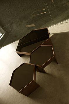 Hexagon tables by Rota