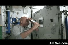 Water in Space GIF - www.gifsec.com
