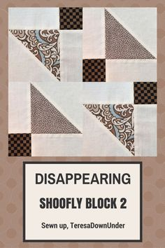 Video tutorial: disappearing shoofly block – variation 2 (Sewn up, TeresaDownUnder) Quilting Tips, Quilting Tutorials, Quilting Projects, Quilting Designs, Quilt Design, Quilt Block Patterns, Pattern Blocks, Quilt Blocks, Scrappy Quilts