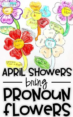 pronoun flower craftivity: Students match proper or improper nouns to a pronoun that can be used to replace them.