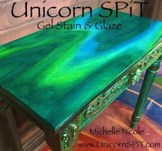 Unicorn Spit Wood Gel Stain & Glaze or Use on Wood Glass Metal Fabric. This item is for Unicorn Spit-Wood Stain And G… – garage Funky Painted Furniture, Refurbished Furniture, Paint Furniture, Repurposed Furniture, Furniture Projects, Furniture Makeover, Cool Furniture, Furniture Design, Furniture Online