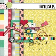 For The Love Of... mini kit freebie from Pink Reptile Designs