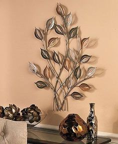 Branches At Sunrise Leaf Metal Wall Sculpture | Metal Wall Sculpture, Wall  Sculptures And Metal Walls