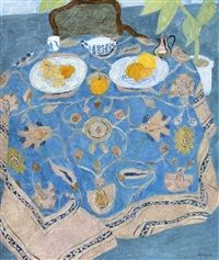 Pierre Boncompain, French, The Blue Nape, oil on canvas
