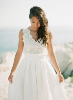 Obsessed with this Bride's dress: http://www.stylemepretty.com/2014/12/19/glamorous-french-riviera-wedding/ | Photography: Greg Finck - http://www.gregfinck.com/