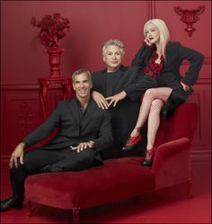 Kinky Boots Team: Jerry Mitchell, Harvey Fierstein and Cyndi Lauper