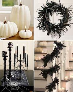 50+Ideas+For+Elegant+Black+And+White+Halloween+Decor