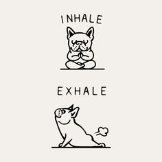 Inhale Exhale Frenchie Bangkok-based Chalermphol Harnchakkham is a self-taught illustrator whose unique work is inspired by Pug, French bulldog, Fitness and Dream. Chalermphol creates art to express himself and enjoys making people smile with his artwork. Cute Puppies, Cute Dogs, Dogs And Puppies, Doggies, Terrier Puppies, Corgi Puppies, Boston Terriers, Bull Terriers, Animals And Pets