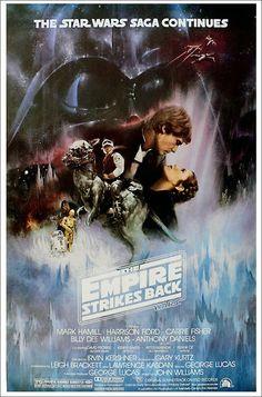 "Harrison Ford, George Lucas, Mark Hamill & Carrie Fisher - Signed ""Star Wars Empire Strikes Back"" Movie Poster Star Wars Film, Star Wars Episoden, Star Wars Watch, Star Wars Poster, Mark Hamill Carrie Fisher, Harison Ford, Le Retour Du Jedi, Bon Film, George Lucas"