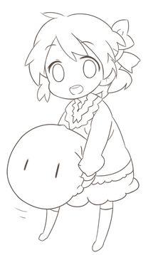 Cartoon Girl Drawing, Manga Drawing, Cartoon Drawings, Lineart Anime, Anime Chibi, Easy Drawings Sketches, Cool Art Drawings, Manga Coloring Book, Coloring Books