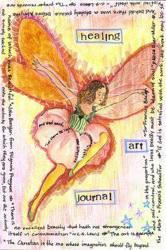 healing art journal. love.