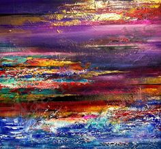 """""""The Promise"""" original abstract acrylic on canvas painting by Dublin-based artist Jaanika Talts."""