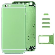 [$32.84] iPartsBuy Full Assembly Replacement Housing Cover for iPhone 6 Plus, Including Back Cover & Card Tray & Volume Control Key & Power Button & Mute Switch Vibrator Key(Green)