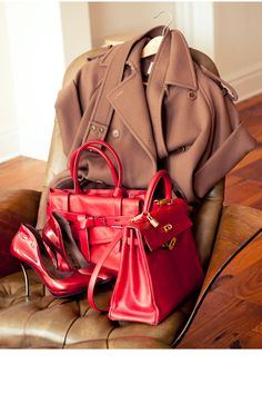 red & camel