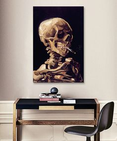 Another great find on #zulily! Van Gogh Skull With Cigarette Replica Canvas Print #zulilyfinds