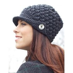 Women's Peaked Hat -free crochet pattern-
