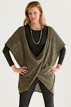 Twist Front Sweater: Amy Brill: Knit Sweater - Artful Home