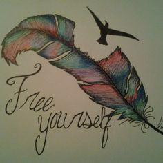 drawings of feathers