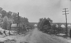 Sedgwick Avenue looking south to High Bridge, ca. 1895.